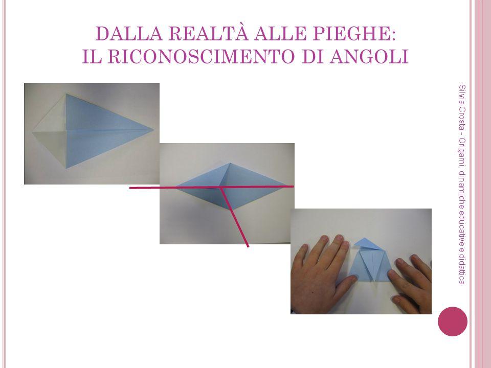 DALLA REALTÀ ALLE PIEGHE: IL RICONOSCIMENTO DI ANGOLI Silvia Crosta - Origami, dinamiche educative e didattica