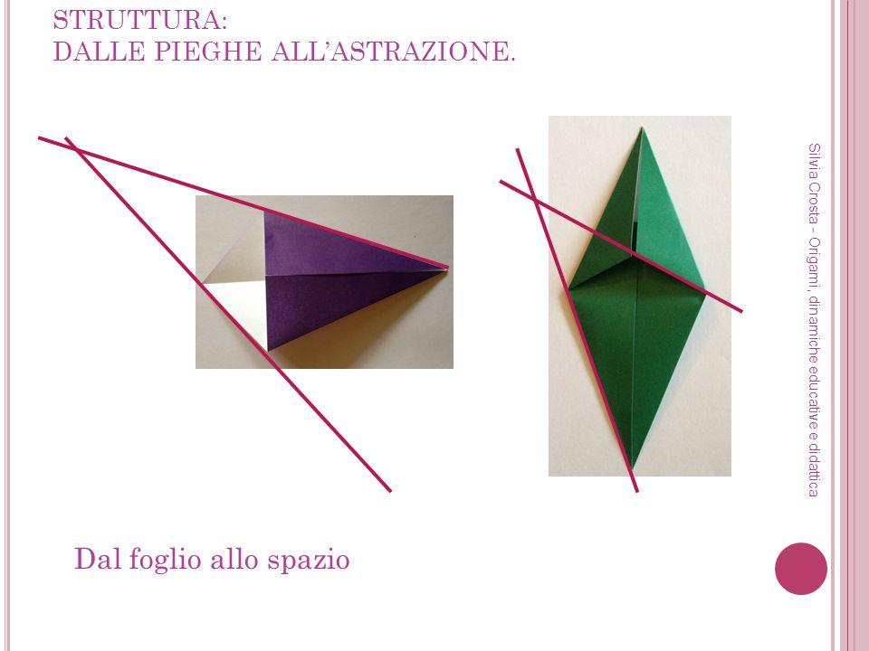 STRUTTURA: DALLE PIEGHE ALLASTRAZIONE. Silvia Crosta - Origami, dinamiche educative e didattica Dal foglio allo spazio
