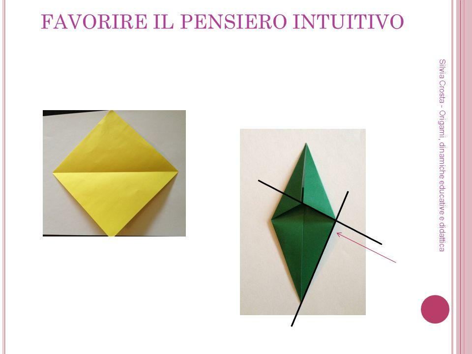 DALLA REALTÀ ALLE PIEGHE: IL RICONOSCIMENTO DI RETTE Silvia Crosta - Origami, dinamiche educative e didattica