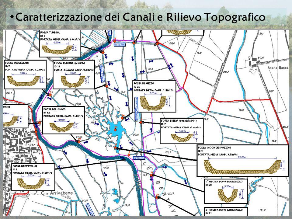 Caratterizzazione dei Canali e Rilievo Topografico