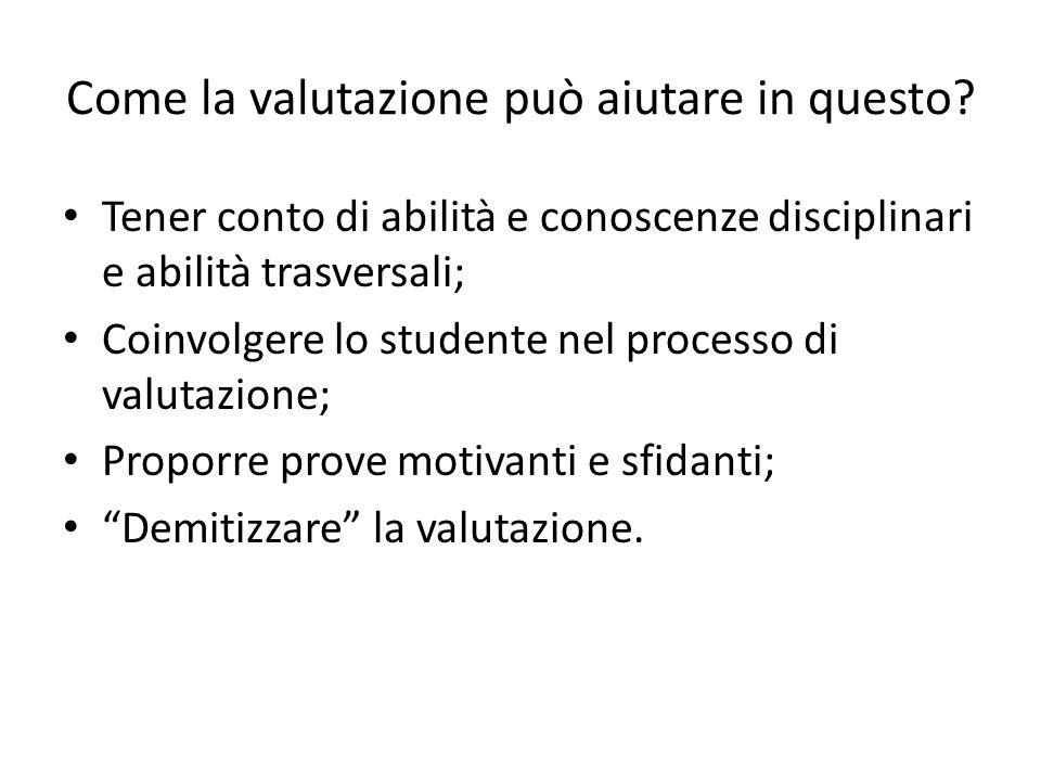 Caratteristiche di una prestazione autentica Lobiettivo del compito o della prestazione.