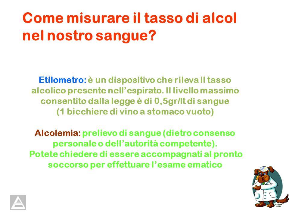 Etilometro: è un dispositivo che rileva il tasso alcolico presente nellespirato.