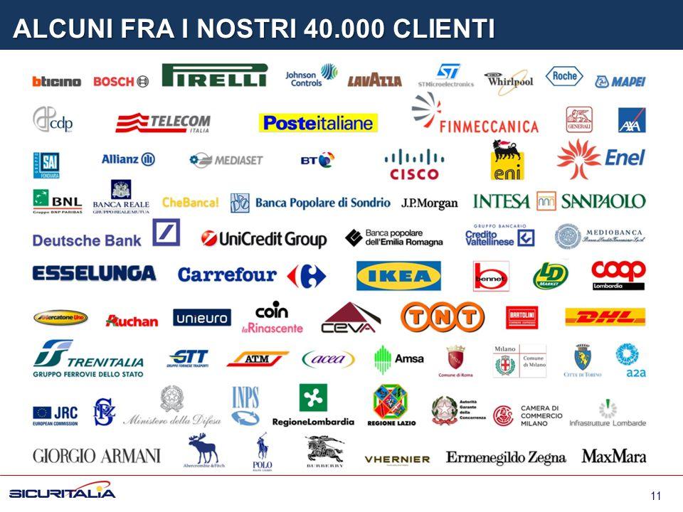 ALCUNI FRA I NOSTRI 40.000 CLIENTI 11