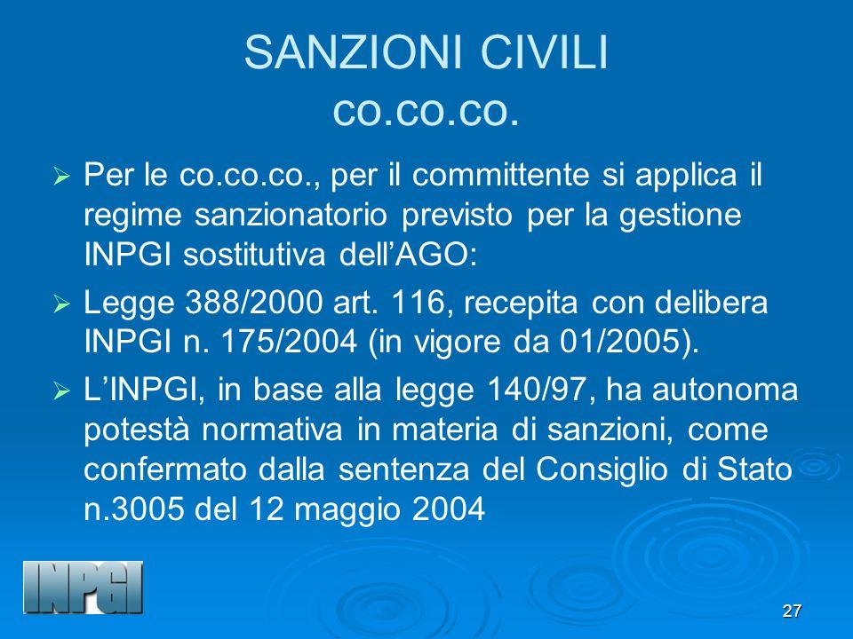 27 SANZIONI CIVILI co.co.co.