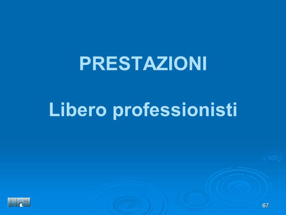 67 PRESTAZIONI Libero professionisti