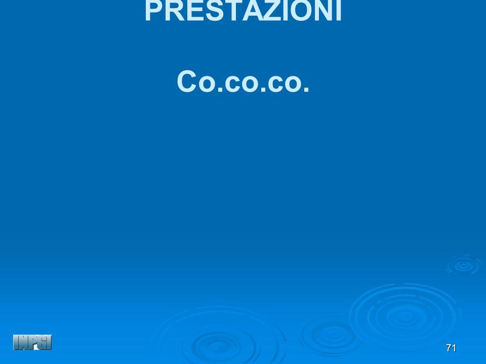 71 PRESTAZIONI Co.co.co.