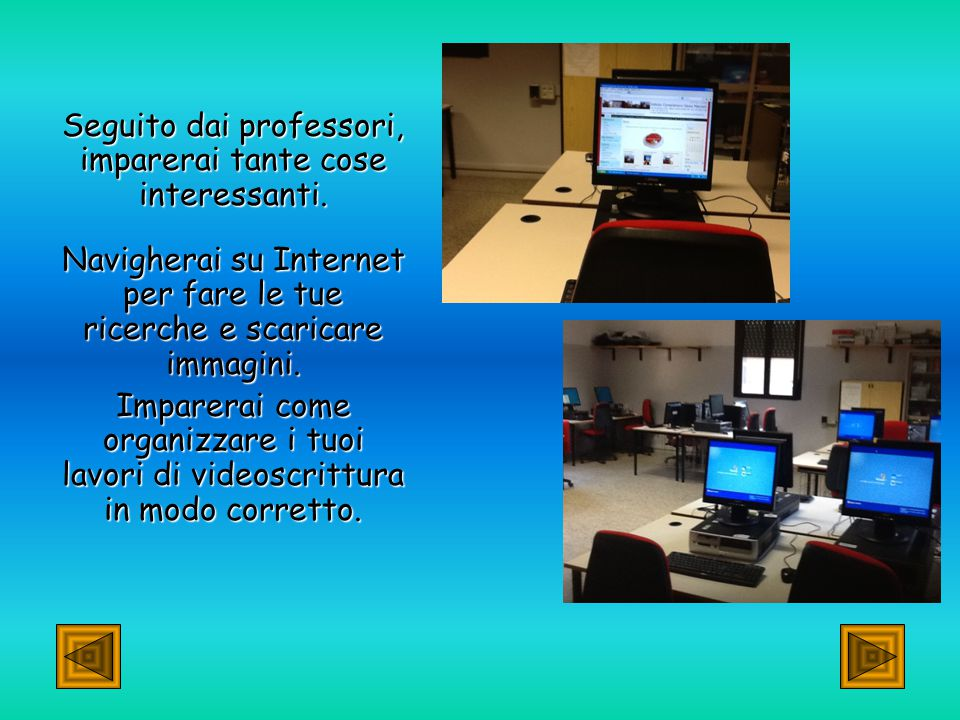 Il computer nella nostra scuola: Il computer nella nostra scuola: il computer, non solo in matematica, ma anche in molte altre materie… Impariamo a usare Word, Excel e vari programmi di impaginazione, animazione e trattamento delle immagini.