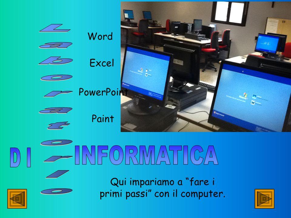 Qui impariamo a fare i primi passi con il computer. Word Excel Paint PowerPoint