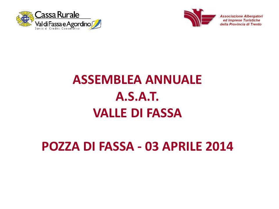 ASSEMBLEA ANNUALE A.S.A.T. VALLE DI FASSA POZZA DI FASSA - 03 APRILE 2014