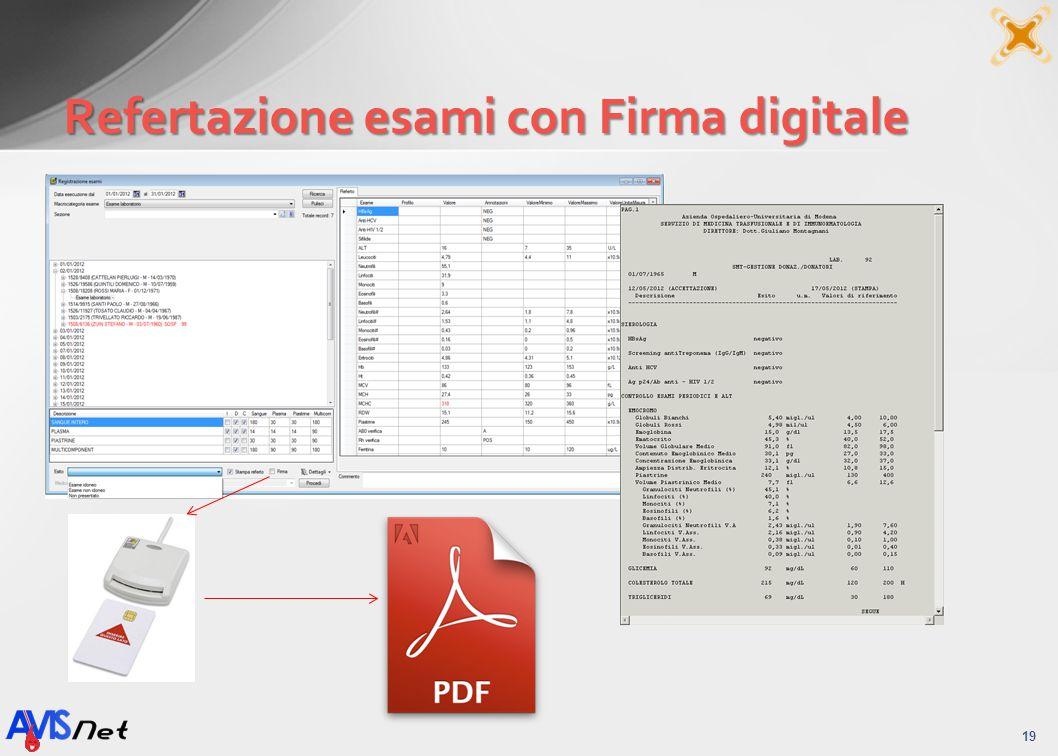 Refertazione esami con Firma digitale 19