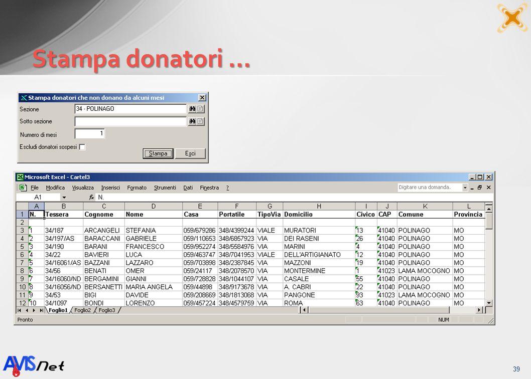 Stampa donatori … 39