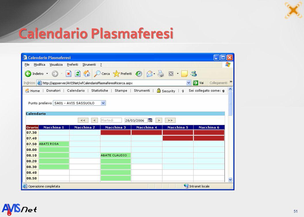 Calendario Plasmaferesi 51