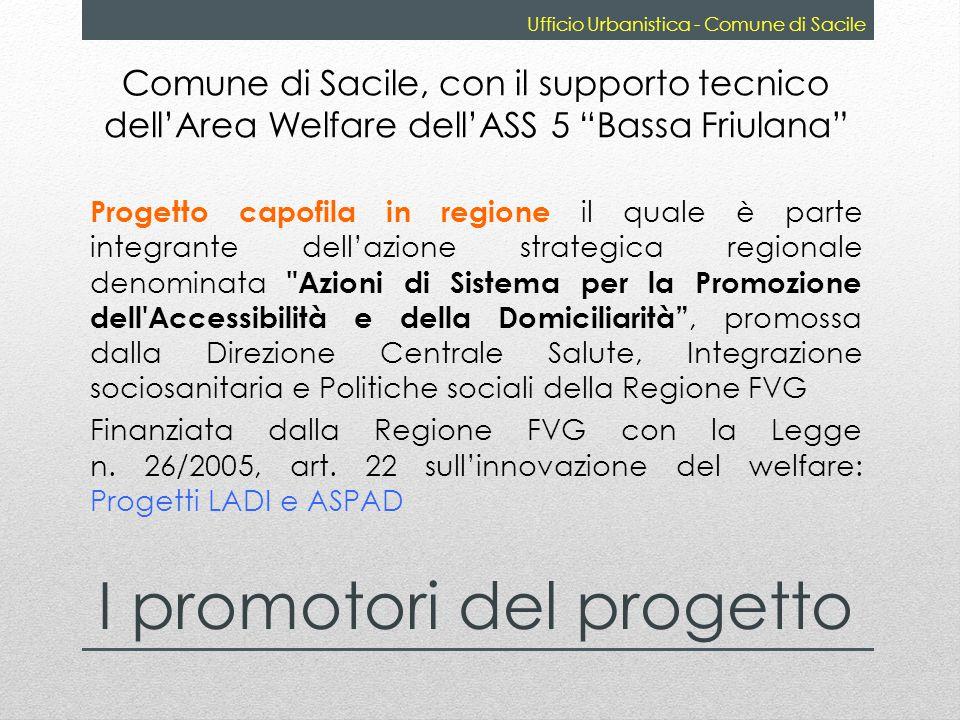 Comune di Sacile, con il supporto tecnico dellArea Welfare dellASS 5 Bassa Friulana Progetto capofila in regione il quale è parte integrante dellazion