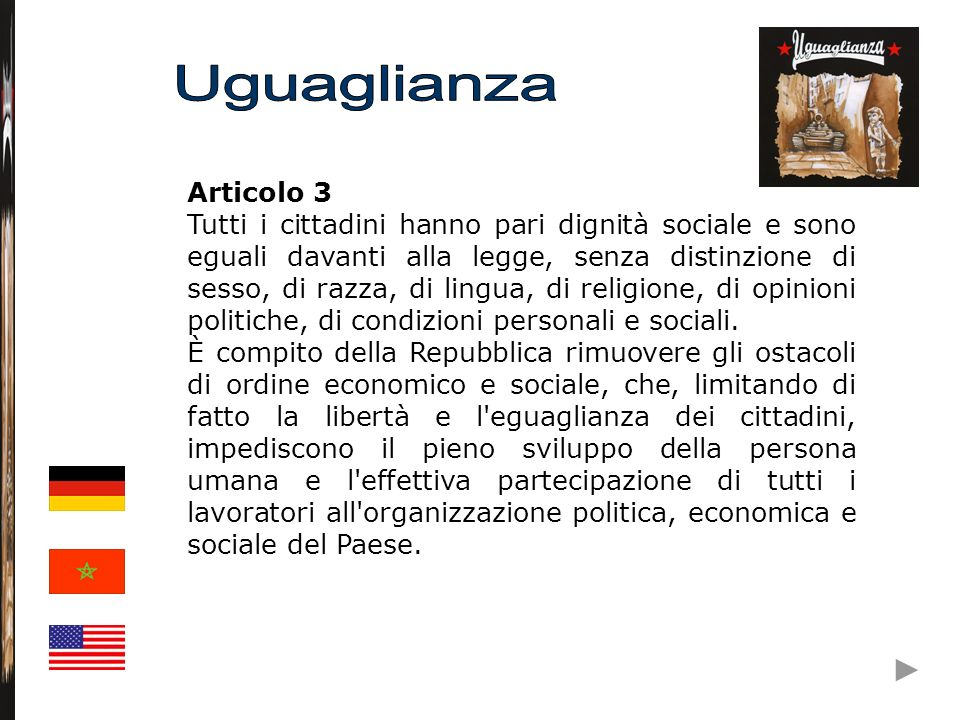 Articolo 10 L ordinamento giuridico italiano si conforma alle norme del diritto internazionale generalmente riconosciute.
