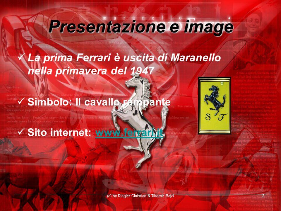 (c) by Riegler Christian & Tihomir Bajci2 Presentazione e image La prima Ferrari è uscita di Maranello nella primavera del 1947 Simbolo: Il cavallo ra