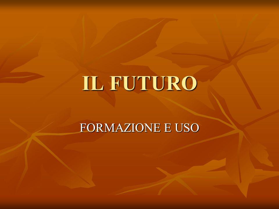 La formazione Il futuro viene formato dallinfinito.
