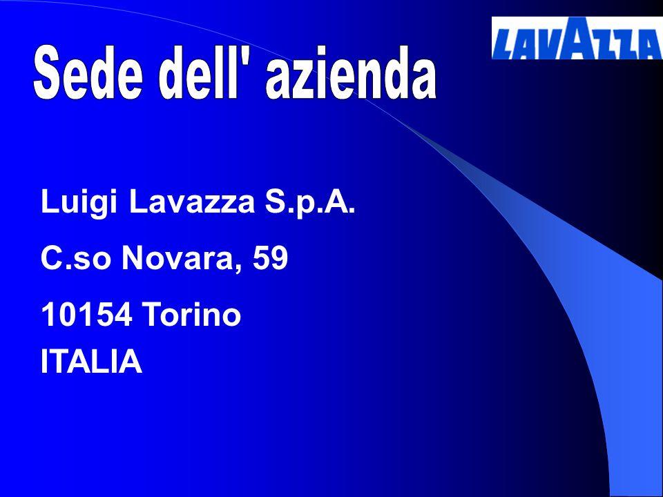 Luigi Lavazza S.p.A. C.so Novara, 59 10154 Torino ITALIA