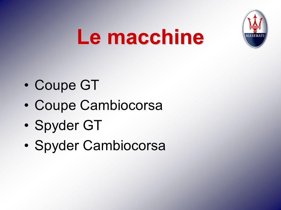 Le macchine Coupe GT Coupe Cambiocorsa Spyder GT Spyder Cambiocorsa