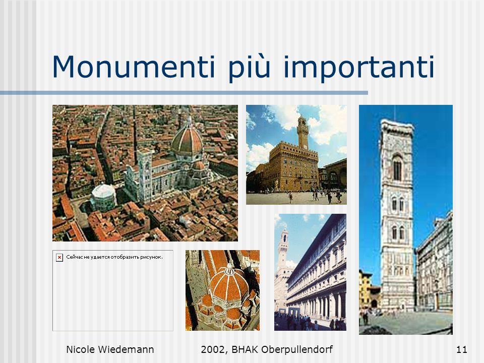 Nicole Wiedemann2002, BHAK Oberpullendorf11 Monumenti più importanti
