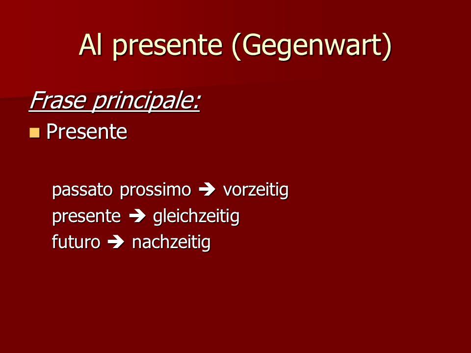 Al passato (Vergangenheit) Discorso diretto: Paola ha detto: Paola ha detto: Ho vissuto in Italia.