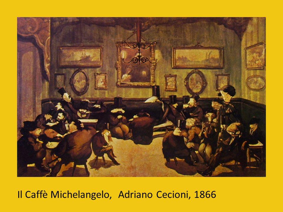 Il Caffè Michelangelo, Adriano Cecioni, 1866