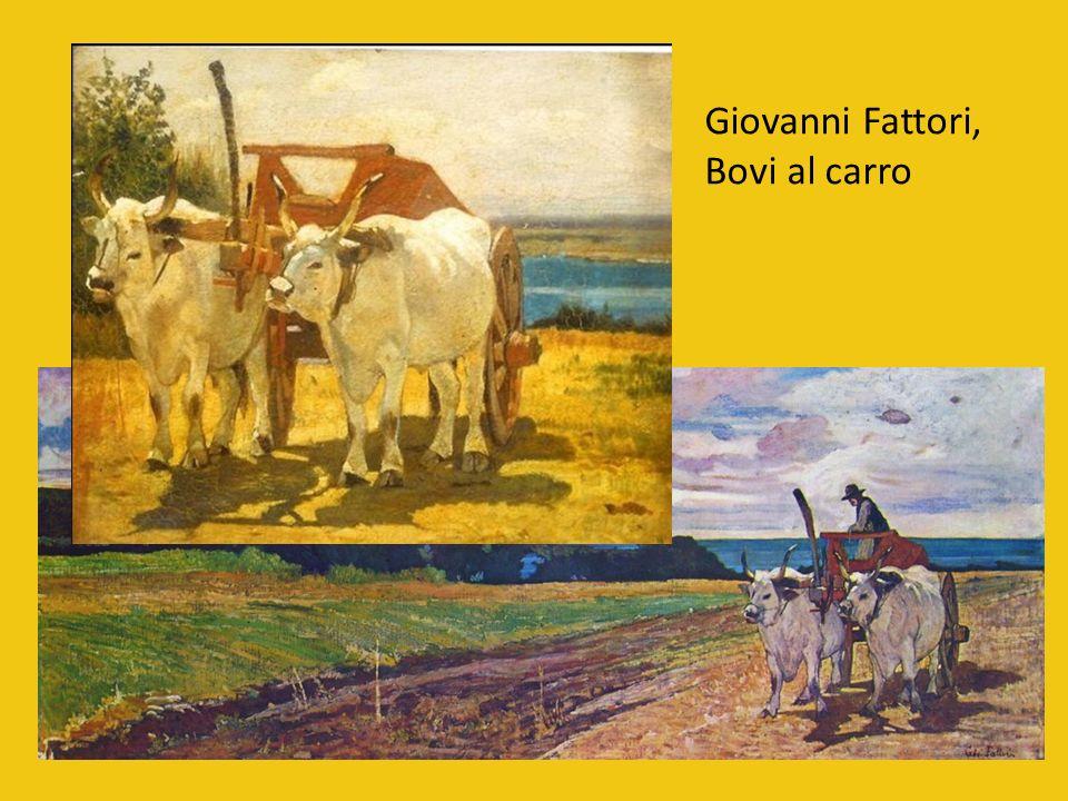 Alltägliche Straβenszenen Giovanni Fattori, PferdeKarren 1873 (Barrocci romani) Giovanni Fattori, Die weiße Mauer 1872 (In Vendetta)