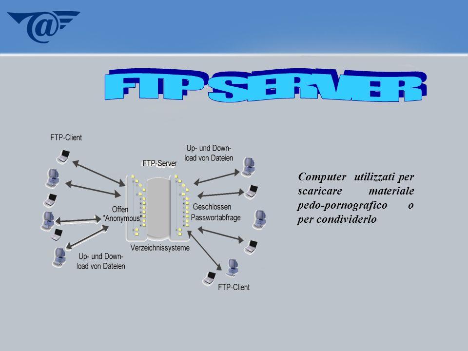 Computer utilizzati per scaricare materiale pedo-pornografico o per condividerlo
