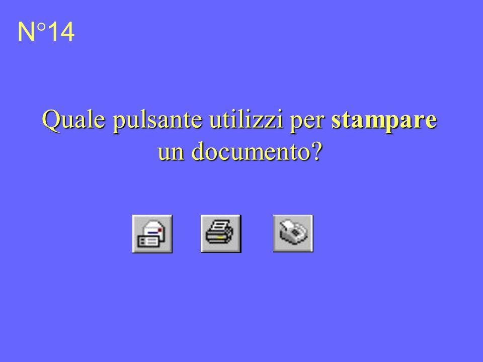 Quale pulsante utilizzi per stampare un documento N°14