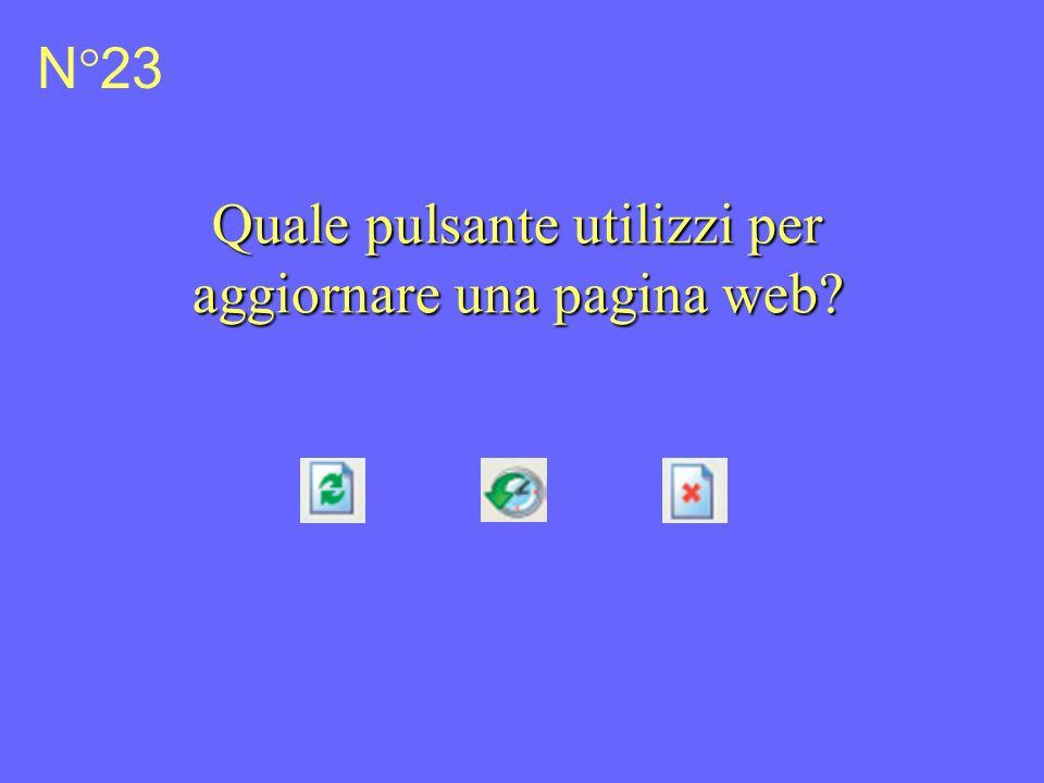 N°23 Quale pulsante utilizzi per aggiornare una pagina web