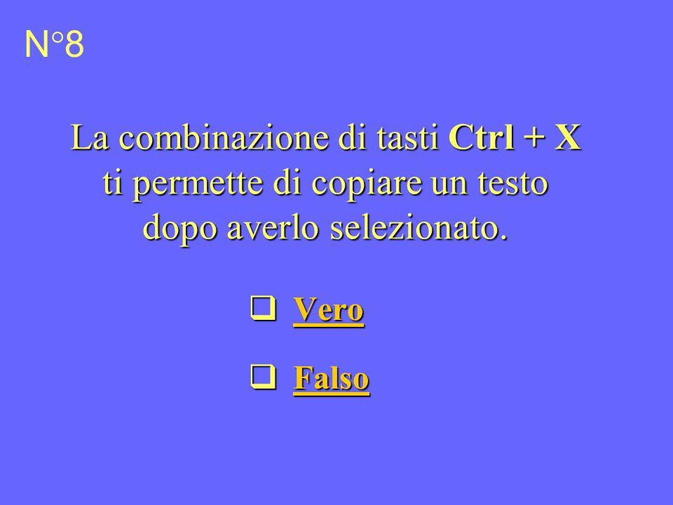 La combinazione di tasti Ctrl + X ti permette di copiare un testo dopo averlo selezionato.