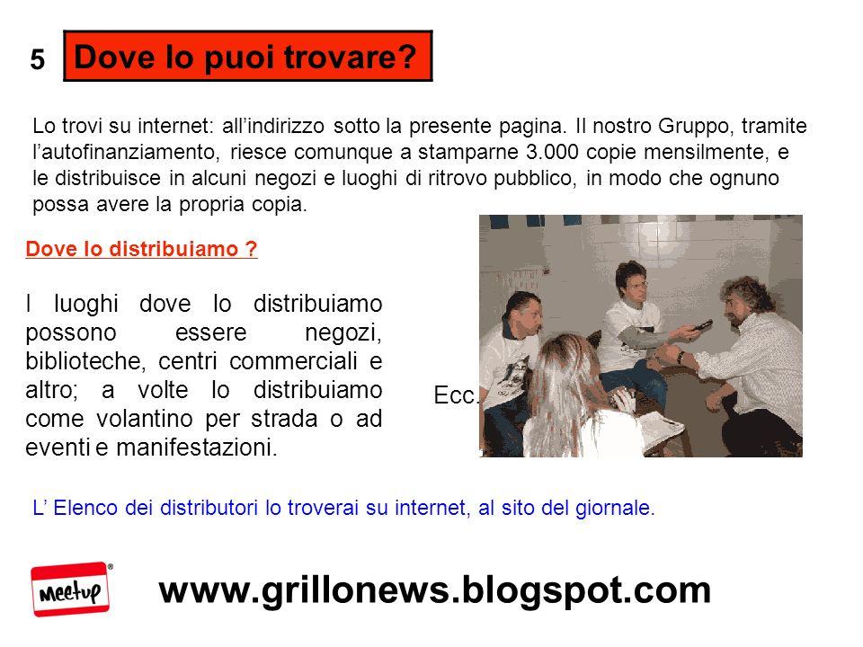 www.grillonews.blogspot.com Come lo stampiamo.