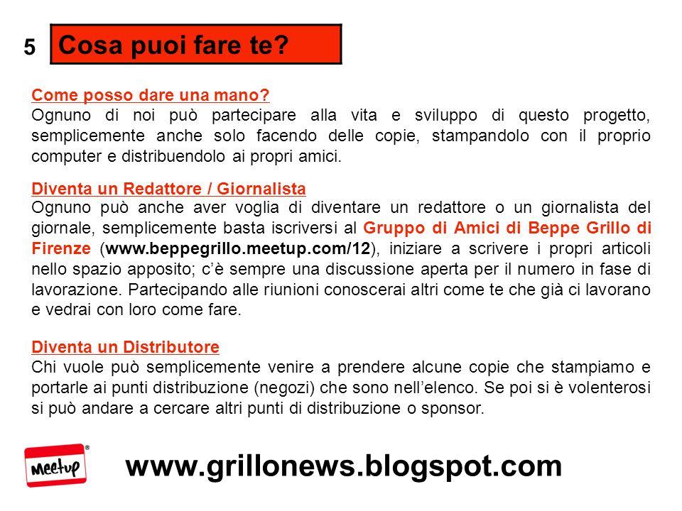 www.grillonews.blogspot.com Cosa puoi fare te.
