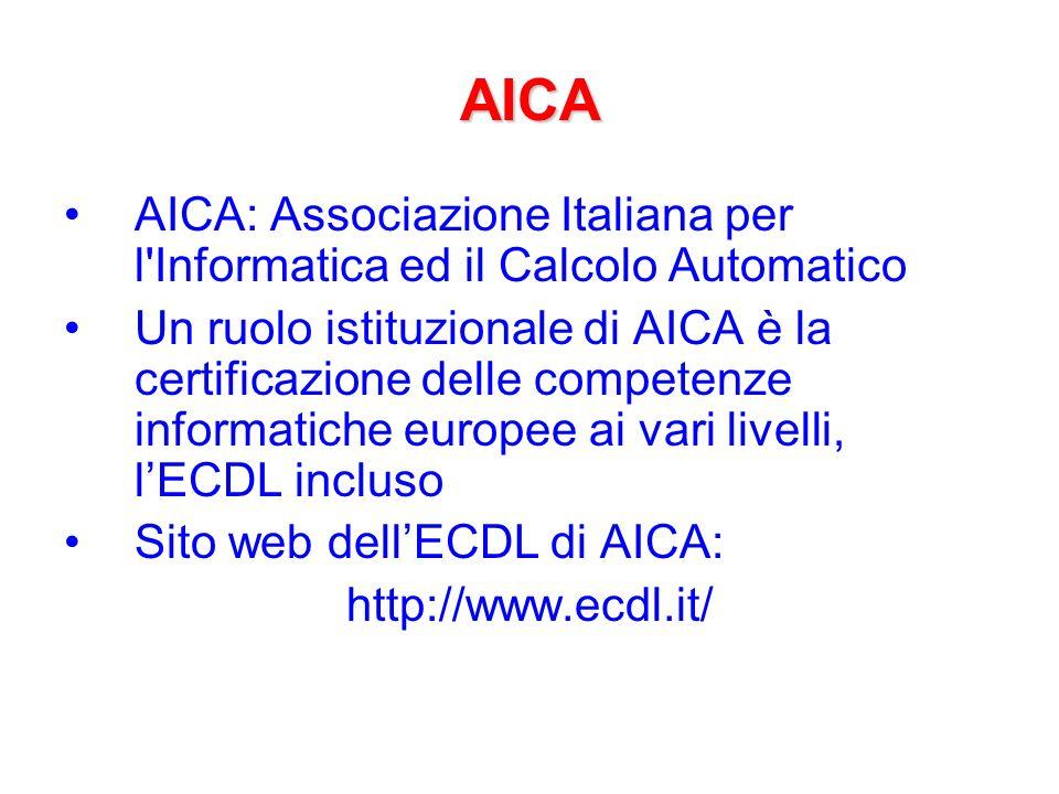 ECDL: esami ATLAS: –Alcune domande richiedono lesecuzione di operazioni pratiche