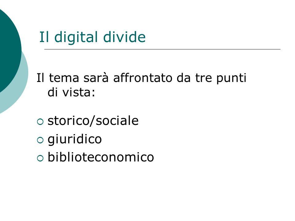 Il digital divide è un problema eminentemente biblioteconomico?