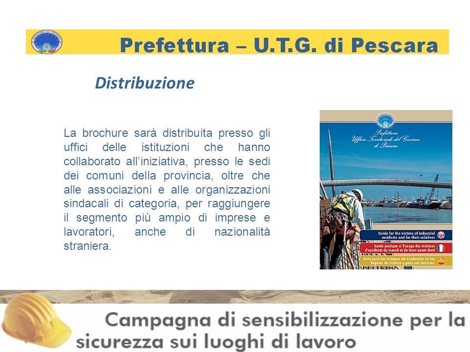Distribuzione La brochure sarà distribuita presso gli uffici delle istituzioni che hanno collaborato alliniziativa, presso le sedi dei comuni della provincia, oltre che alle associazioni e alle organizzazioni sindacali di categoria, per raggiungere il segmento più ampio di imprese e lavoratori, anche di nazionalità straniera.