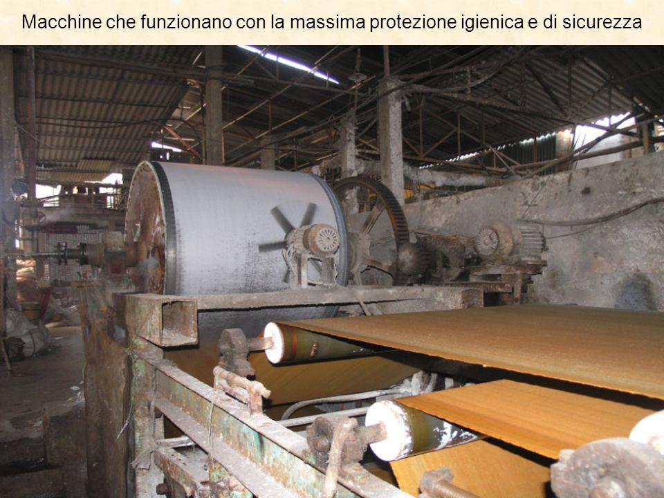 Macchine che funzionano con la massima protezione igienica e di sicurezza