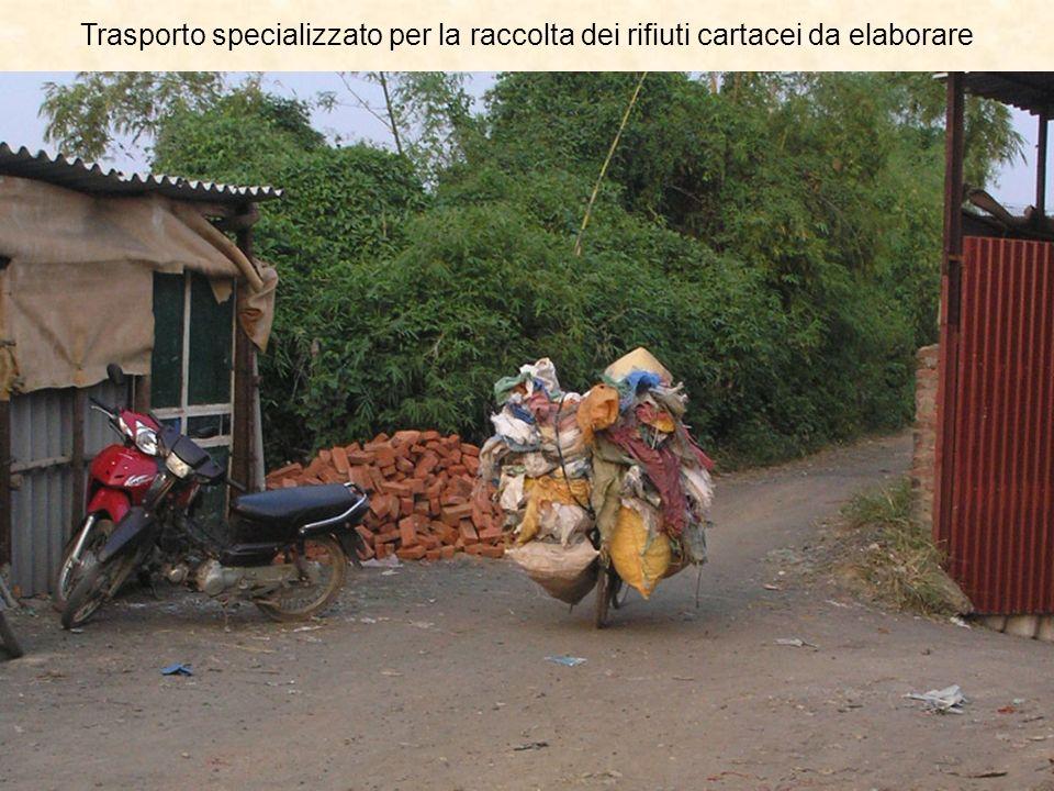Trasporto specializzato per la raccolta dei rifiuti cartacei da elaborare