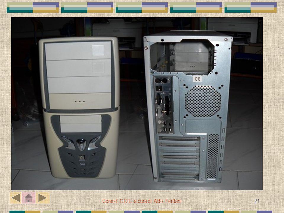 Corso E.C.D.L. a cura di Aldo Ferdani 21 Unità centrale di elaborazione e CPU Lunità centrale è costituita da un contenitore detto case o cabinet che