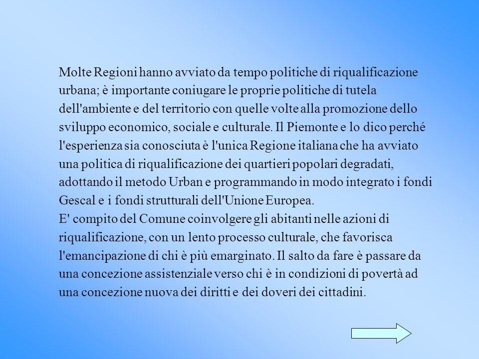 Il Piemonte si è dotato di una legge regionale (28/76) che ha favorito la locazione nel settore dell edilizia agevolata, abbattendo in modo significativo i tassi di interesse sui mutui.