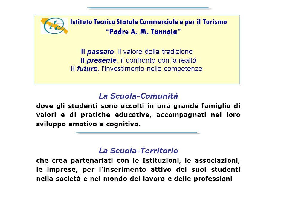 Istituto Tecnico Statale Commerciale e per il Turismo Padre A. M. Tannoia Il passato, il valore della tradizione il presente, il confronto con la real