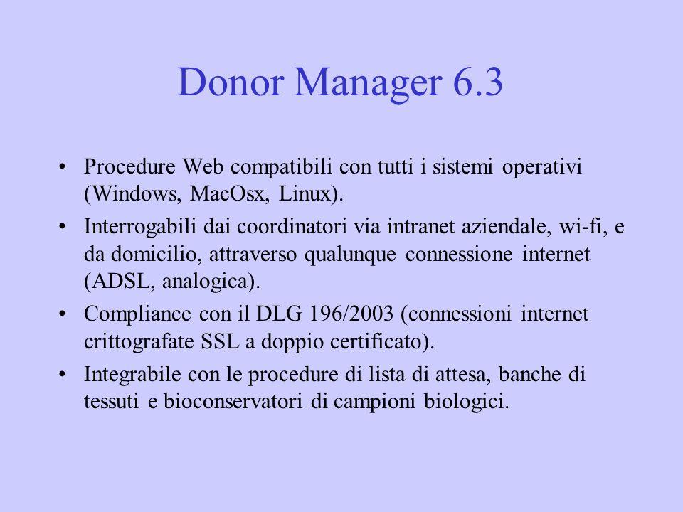 Procedure Web compatibili con tutti i sistemi operativi (Windows, MacOsx, Linux). Interrogabili dai coordinatori via intranet aziendale, wi-fi, e da d