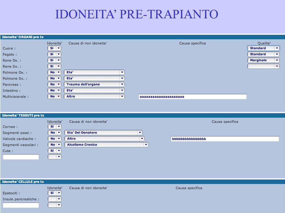 IDONEITA PRE-TRAPIANTO