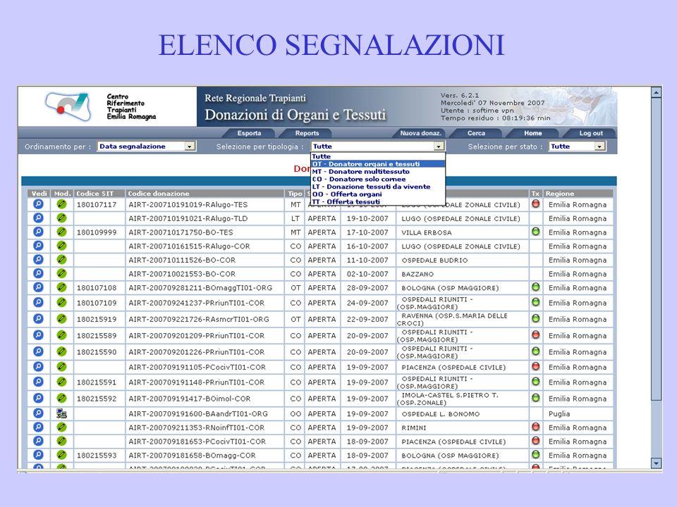 IDONEITA PRE-SALA (organi)