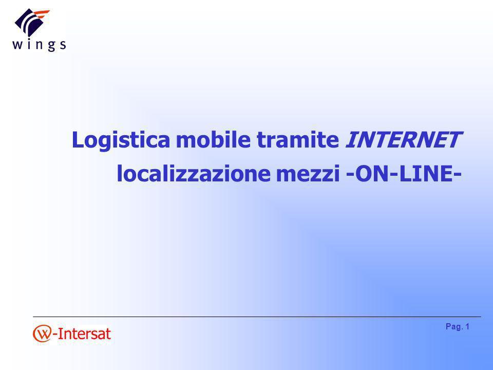 Pag. 1 Logistica mobile tramite INTERNET localizzazione mezzi -ON-LINE-