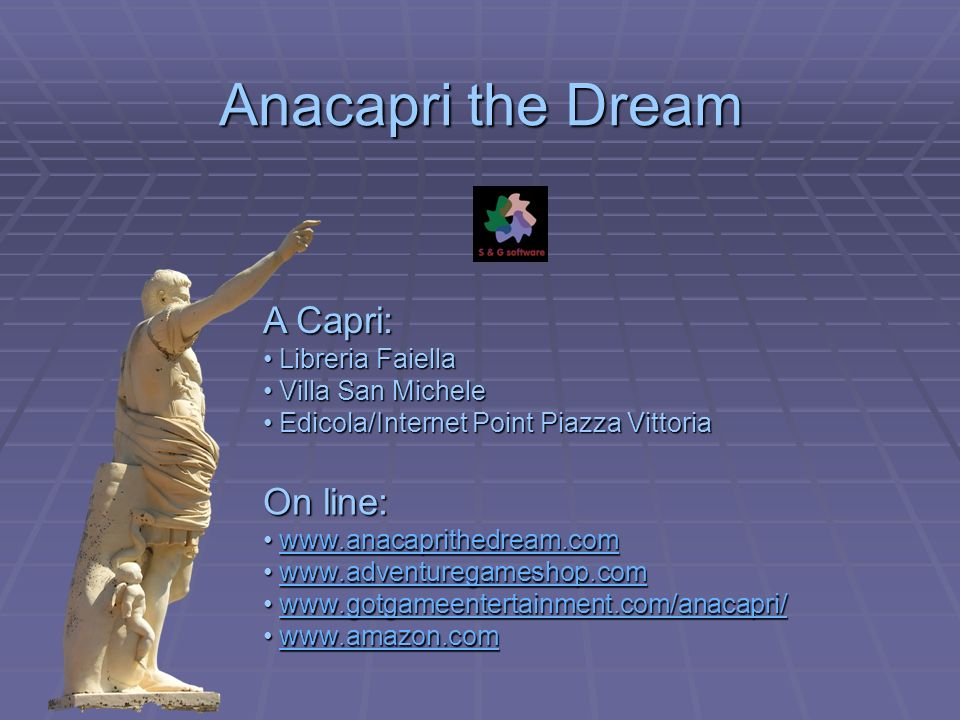 Anacapri the Dream A Capri: Libreria Faiella Libreria Faiella Villa San Michele Villa San Michele Edicola/Internet Point Piazza Vittoria Edicola/Inter