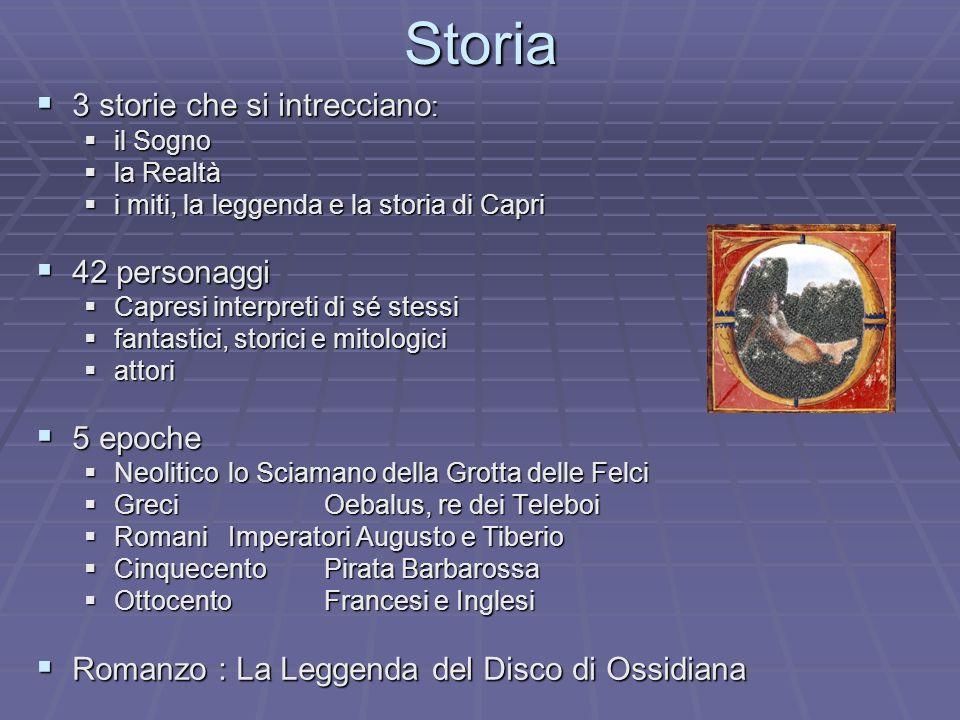 Storia 3 storie che si intrecciano : 3 storie che si intrecciano : il Sogno il Sogno la Realtà la Realtà i miti, la leggenda e la storia di Capri i mi