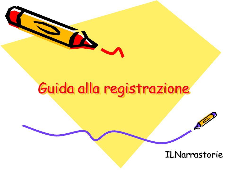 Guida alla registrazione ILNarrastorie