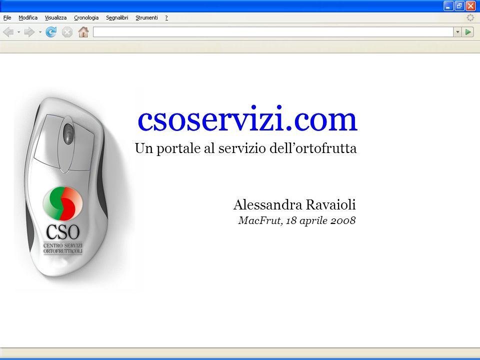 Alessandra Ravaioli MacFrut, 18 aprile 2008 Un portale al servizio dellortofrutta csoservizi.com