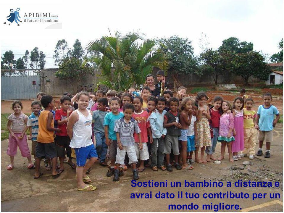 Sostieni un bambino a distanza e avrai dato il tuo contributo per un mondo migliore.