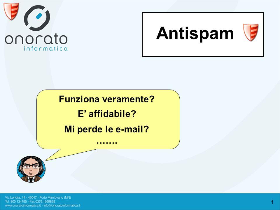 1 Antispam Funziona veramente? E affidabile? Mi perde le e-mail? …….